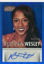 Rutina Wesley 2015 Panini Americana Actor Blue Parallel Auto Autograph #D /49
