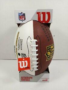 Wilson Official NFL Autograph Football - The Duke - 3 White Panels