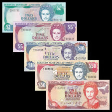Bermuda Set 5 PCS, 2 5 10 50 100 Dollars, 1995-1999, UNC
