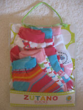 6 Pair Zutano Infant Socks 0 - 12 Months Rainbow Colors New