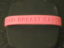 """END BREAST CANCER"" Pink Silicone Wristband Bracelet - Small - 7"""