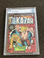 ASTONISHING TALES #16 KA-ZAR - CBCS 9.4 WHITE PAGES - STARLIN COVER
