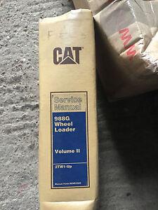Caterpillar Cat 988G Service Manual book volume 2 for wheel loader workshop
