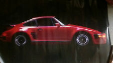 RED PORSCHE POSTER 1986 Car / Auto Collectors ( 911 Targa Carrera Cayman Turbo)
