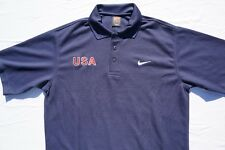 Nike Team USA Textured Casual Polo Golf Shirt. Dark Navy, Men's Size M. EUC!!