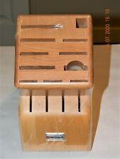 New listing Wusthof 15 Slot Hardwood Knife Block ~ New! ~ Mod. # - 2265-100 ~ Factory Sealed