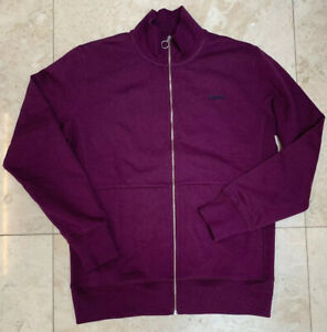 Rapha Logo Zip Up Track Top Plum Size Medium Brand New With Tag