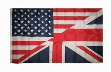 3X5 USA AMERICAN Great Britain BRITISH FLAG US UK FRIENDSHIP BANNER UNION JACK