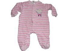 Topolino toller Schlafanzug Gr. 56 / 62 rosa geringelt mit Mausmotiv !!