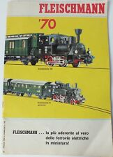 FLEISCHMANN 1970 MODEL TRAIN & SLOT CAR CATALOGUE. ITALIAN LANGUAGE. UK DISPATCH