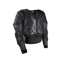 Adult Body CE Armoured Safety Jacket Motorcycle Motocross MX Enduro Black Road