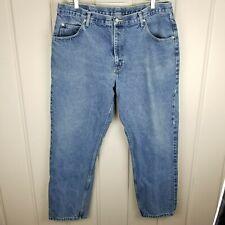 Wranglers Slim Leg Jeans Blue Vintage Wash Mens Size 40 x 32 Zipper Fly Denim