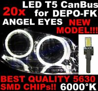 Nr 20 LED T5 6000K CANBUS SMD 5630 Phares Angel Eyes DEPO FK Opel Astra H 1D7BE