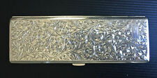 Vintage Japanese Sterling Silver .950 Cigarette Case- No Initials- in Balsa Box