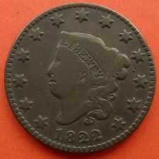 US CORONET HEAD LARGE CENTS 1822, 1838.......LOCATED IN UK
