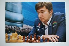 Gm sergey Kariakin signed 20x30cm foto autógrafo Autograph ip9 Grandmaster Chess