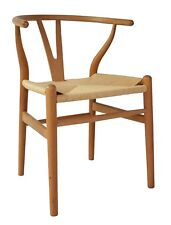Natural Timber Colour Replica Hans Wegner Wishbone Chairs