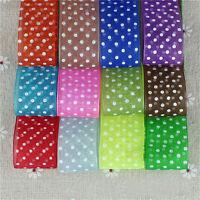 10/50 Yards Dot Satin Edge Sheer Organza Ribbon 25 mm Bow Craft Wedding DIY