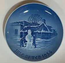 1954 Bing & Grondahl Christmas Plate, Hans Christian Andersens Hus Odense