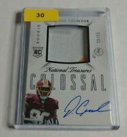 R3219 - JAMISON CROWDER - 2015 NATIONAL TREASURES - RC AUTO PATCH - #10/25