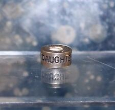 """Sterling Silver Chamilia """"Daughter, Hija, Fille"""" Bead, Article GE-12 [07BE]"""