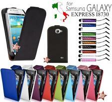 CUSTODIA FLIP COVER CASE ECO PELLE per SAMSUNG GALAXY EXPRESS GT-I8730 + PENNINO