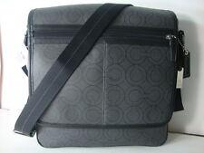 New Coach Mor Op Art  messenger map bag  70262 black charcoal