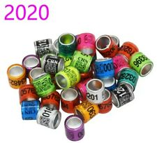 20pcs 8mm pigeon leg bands/rings. Year 2020 for Racing Homers.Usa Seller Palomas