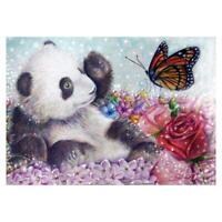 VS2# 5D DIY Full Drill Diamond Painting Panda Cross Stitch Embroidery Mosaic Kit