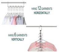 Space Saver Saving Wonder Metal Magic Hanger Clothes Closet Organize Hook UK