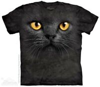 New The Mountain Big Face Black Cat T Shirt