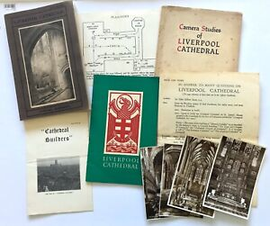 LIVERPOOL CATHEDRAL 1924 Official Handbook + 2 others + 4 postcards + 3 leaflets