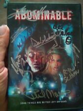 Autograph signed DVD Abominable signed 11X lance Henrickson, dee Wallace stone