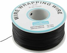 P/N B-30-1000 Black Insulated PVC Coated 30AWG Wire Wrapping Wires Reel 820Ft