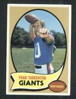 1970 Topps #80 Fran Tarkenton NM/NM+ NY Giants 62705