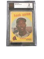 1959 Topps Hank Aaron Milwaukee Braves #380 Baseball Card