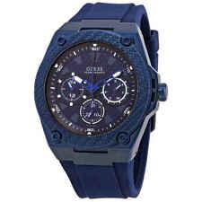 Guess Legacy Quartz Blue Dial Men's Watch W1049G7