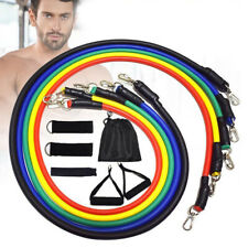 11PCS Resistance Bands Set Yoga Pilates Exercise Fitness Tube Workout Indoor US
