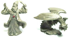 Wizard And Dragon Heavy Metal Figurines Approx 3 1/2 Inches