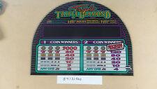Triple Triple Double Diamond Progressive 2 coin Round top IGT slot glass ~used