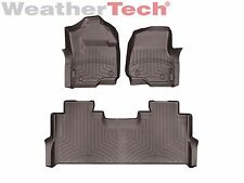WeatherTech Floor Mats FloorLiner for Ford Super Duty Crew Cab 2017-2018 Cocoa