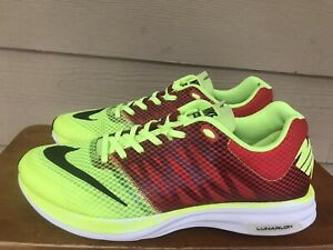 Nike Lunarspeed 554682-706 Men's Athletic Running Shoes Volt/Red Size 10