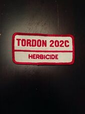 Vtg Tordon 202C Herbicide Sew On Embroidered Patch Farming Dow AgroSciences Weed