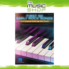 New First 50 Early Rock Songs You Should Play on Piano Music Book - Easy Piano