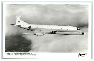 Postcard Hawker Siddeley Nimrod MK 1 Jet Plane real photo
