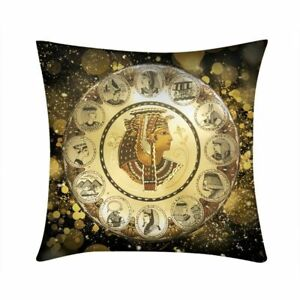 "Ancient Egyptian Pharaoh Throw Pillow Cover  Sofa Home Decor Cushion 16-22"""