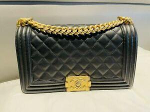 Chanel Boy Bag Medium black Caviar Shoulder LIMITED OFFER