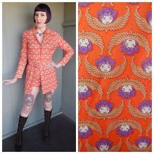 Vintage 60s 70s ANGEL Cherub Novelty Print Booty Shorts Romper w/ Skirt - Medium