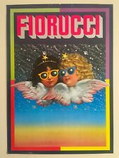 "ORIGINAL VINTAGE RARE 1980 FIORUCCI NEW WAVE ITALIAN FASHION POSTER "" ANGELS """