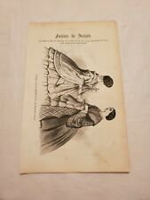 Cr33) Fashion Evening Dress and Toilet Jan. 1859 Harpers Monthly Engraving